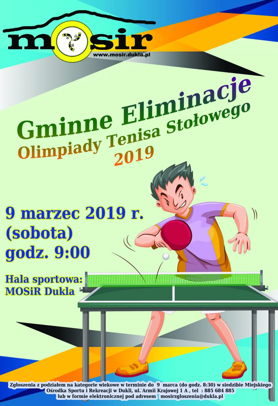 Gminne eliminacje w tenisie stolowym 2019