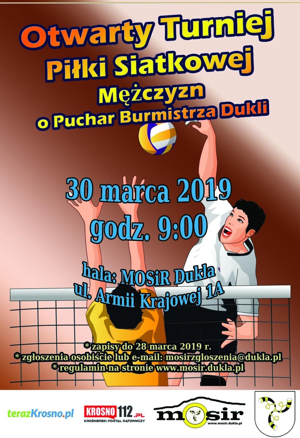 Otwarty turniej pilki siatkowej mezczyzn puchar burmistrza2019m