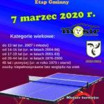 Podkarpacka Olimpiada w Tenisie Stołowym, 7 marzec 2020 r.