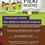 Nabór dzieci do sekcji piłkarskiej MOSiR Dukla
