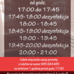 Godziny pracy sauny MOSiR Dukla