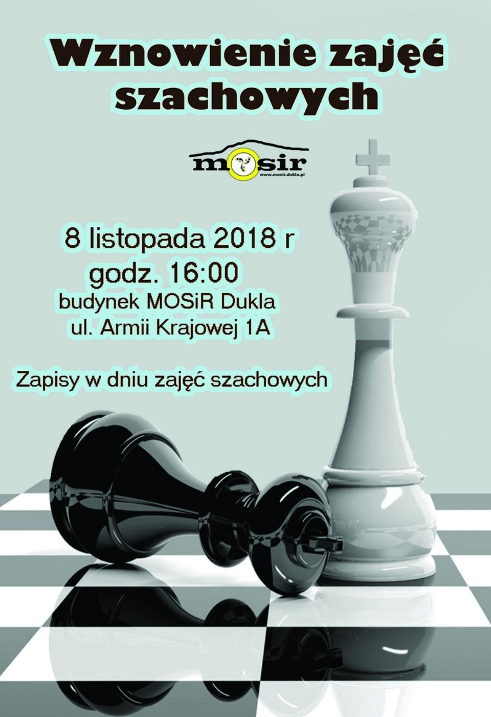szachy wznowienie zajeć 2019