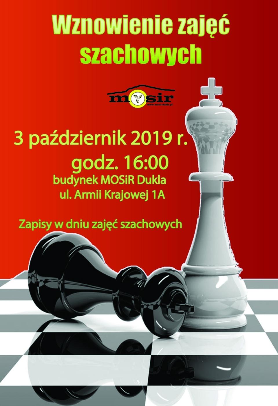 szachy wznowienie zajeć 2019m