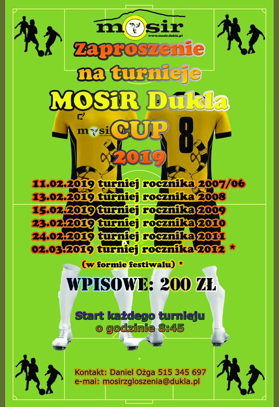 zaproszenie mosir dukla cup 2019